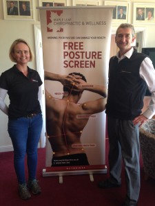 Selma & Tim at Posture Screening event